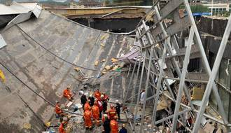 One dead, 77 injured after bar collapse in SW China