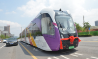 China's self-driving trackless 'rail bus' starts first overseas run