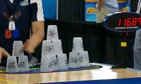 Cup stacking sport gains popularity in China, U.S.
