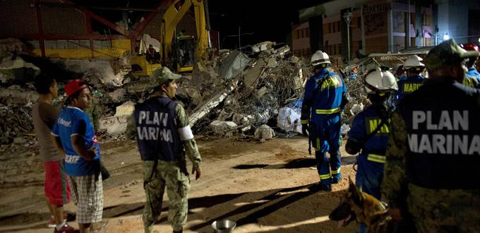 Homes collapse after hit by earthquake in Mexico